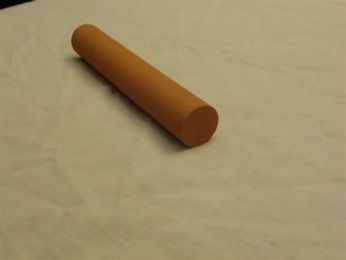 "1"" Diameter X 6"" long Round India Sharpening Stone 220 Grit"